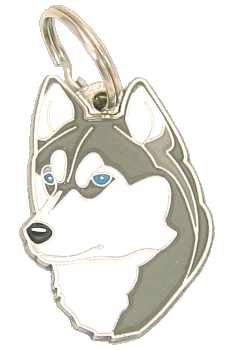 SIBERIAN HUSKY - pet ID tag, dog ID tags, pet tags, personalized pet tags MjavHov - engraved pet tags online